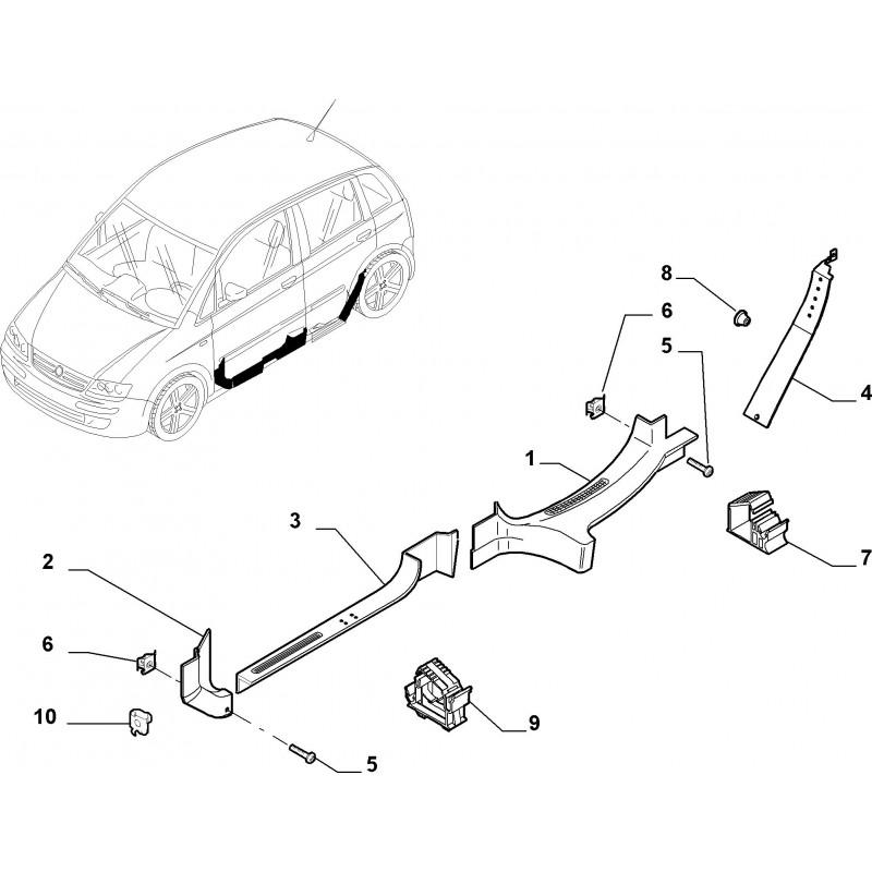 Battitacco Sinistro Fiat Idea Lancia Musa