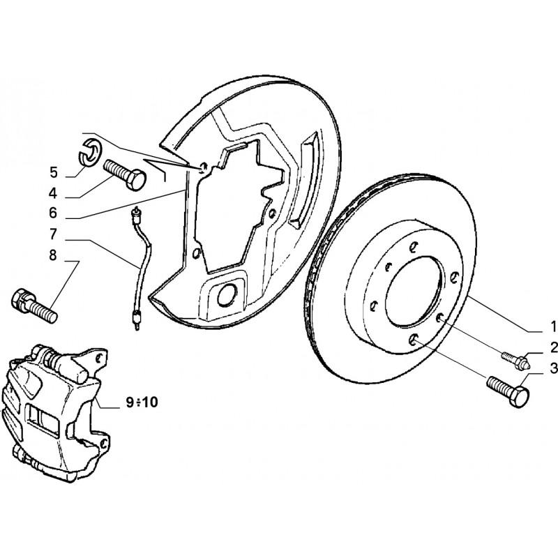 Disco Freno Anteriore Fiat Uno Turbo